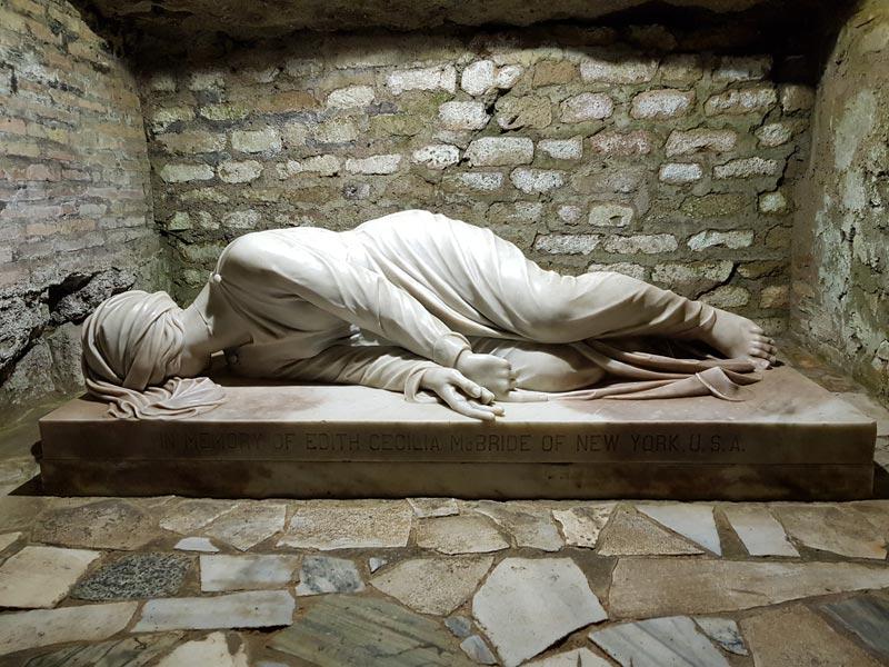 Rome Chrétienne et ses monuments - EUGENE DE LA GOURNERIE - 1867 Cripta_santa_cecilia_01